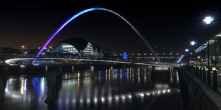 Newcastle Gateshead Quayside At Night Stock Images