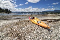 Newcastle Island Marine Provincial Park. Nanaimo view , low tide, British Columbia, Canada stock photos