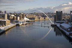 Newcastle-Kaianlagen Stockfoto
