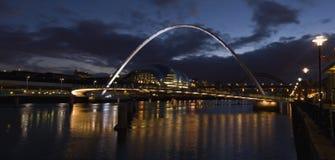 Newcastle-Kaianlagen Lizenzfreies Stockbild