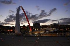 Newcastle-Kaianlagen Stockbild
