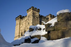 Newcastle Keep. Winter sun is on the old Newcastle Keep Royalty Free Stock Images