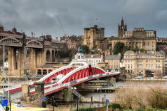 Newcastle Keep beyond the Swing Bridge Royalty Free Stock Photo