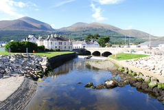 Newcastle, Mourne Mountains, Northern Ireland. A view of the river and the mountains Royalty Free Stock Images