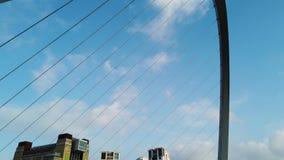 Newcastle na Tyne, Anglia, Zjednoczone Kr?lestwo Gateshead milenium most zdjęcie wideo