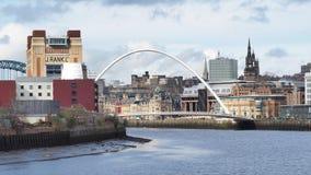 Newcastle na Tyne, Anglia, Zjednoczone Kr?lestwo Gateshead milenium most obraz royalty free