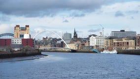 Newcastle na Tyne, Anglia, Zjednoczone Kr?lestwo Gateshead milenium most fotografia royalty free