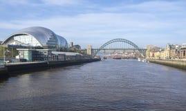 Newcastle na Tyne, Anglia, Zjednoczone Kr?lestwo Mądry Gateshead, koncertowy miejsce wydarzenia i także centre dla muzykalnej edu obraz royalty free