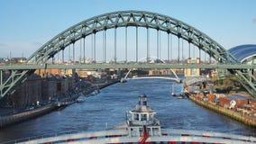 Newcastle na Tyne, Anglia, Zjednoczone Kr?lestwo Tyne most nad Rzecznym Tyne ??czy Newcastle na Tyne i Gateshead zdjęcia royalty free