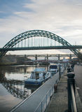 Newcastle nach Tyne Bridge Stockfotografie