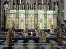 NEWCASTLE OP DE TYNE, DE TYNE EN WEAR/UK - 20 JANUARI: Geboorte van Christussc royalty-vrije stock foto's