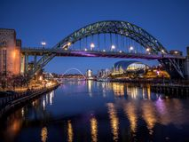 NEWCASTLE OP DE TYNE, DE TYNE EN WEAR/UK - 20 JANUARI: Mening van Stock Afbeeldingen