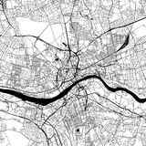 Newcastle op Tyne Downtown Vector Map stock illustratie