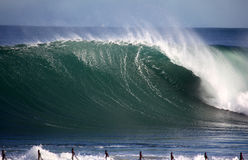 Newcastle Powerful Wave Royalty Free Stock Photography