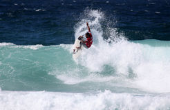 Newcastle professional surfer Royalty Free Stock Photo