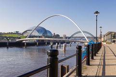 Newcastle quayside Royalty Free Stock Photos