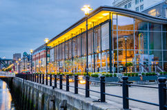 Newcastle Quayside at Dusk Royalty Free Stock Photography