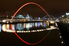 Newcastle Quayside at night Royalty Free Stock Photography