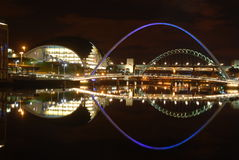 Newcastle quayside night view Royalty Free Stock Image