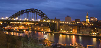 Newcastle quayside night view Stock Photo