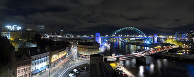 Newcastle Quayside Panorama Stock Photos