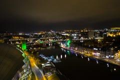 Newcastle quayside uk at night royalty free stock photography
