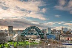 Newcastle-Skyline Stockbilder