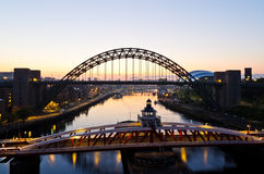 Newcastle am Sonnenaufgang Lizenzfreie Stockfotos
