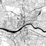 Newcastle sopra Tyne Downtown Vector Map illustrazione di stock