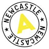 Newcastle-Stempelgummischmutz Lizenzfreie Stockbilder
