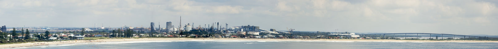 Newcastle-Strand Lizenzfreies Stockbild