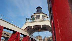 Newcastle sur Tyne, Angleterre, Royaume-Uni Le pont d'oscillation est un pont d'oscillation au-dessus de la rivière Tyne photo stock