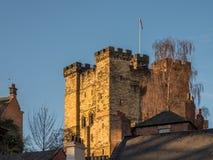 NEWCASTLE SUR TYNE, TYNE ET WEAR/UK - 20 JANVIER : Coucher du soleil plus de photographie stock