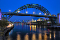 Newcastle Tyne Bridge Royaltyfri Fotografi