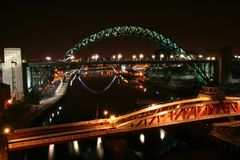 Newcastle upon Tyne bridges UK royalty free stock image
