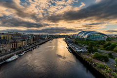Newcastle upon Tyne,| England, United Kingdom. Newcastle upon Tyne is a university city on the River Tyne in northeast England Royalty Free Stock Image