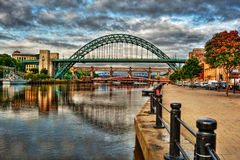 Newcastle upon Tyne HDR. August 2015, cityscape of Newcastle upon Tyne, HDR-technique Stock Photo