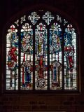 NEWCASTLE UPON TYNE, TYNE AND WEAR/UK - JANUARY 20 : Stained Glass Window in the Cathedral in Newcastle upon Tyne, Tyne and Wear. On January 20, 2018 royalty free stock photos