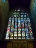 NEWCASTLE UPON TYNE, TYNE AND WEAR/UK - JANUARY 20 : Stained Gla. Ss Window in the Cathedral in Newcastle upon Tyne, Tyne and Wear on January 20, 2018 Royalty Free Stock Photography