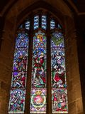 NEWCASTLE UPON TYNE, TYNE AND WEAR/UK - JANUARY 20 : Stained Glass Window in the Cathedral in Newcastle upon Tyne, Tyne and Wear. On January 20, 2018 stock images