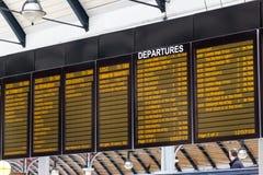 Signage at Newcastle Station stock image