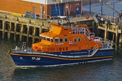 Newcastle, United Kingdom - October 5th, 2014 - RNLI lifeboat 17-20 Spirit of Northumberland at her moorings. On the river Tyne Stock Photography