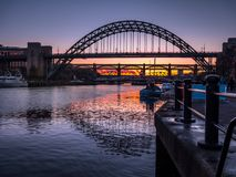 Free NEWCASTLE UPON TYNE, TYNE AND WEAR/UK - JANUARY 20 : Sunset Over Stock Photography - 108501332