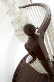 Newel Post and Spiral Staircase Stock Images
