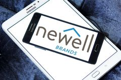 Newell Brands company logo. Logo of Newell Brands company on samsung mobile. Newell Brands is an American worldwide marketer of consumer and commercial products Stock Photo