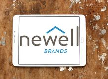 Newell Brands company logo. Logo of Newell Brands company on samsung tablet. Newell Brands is an American worldwide marketer of consumer and commercial products Stock Photos