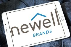 Newell Brands company logo. Logo of Newell Brands company on samsung tablet. Newell Brands is an American worldwide marketer of consumer and commercial products Royalty Free Stock Photography