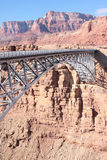 Newer Navajo Bridge over Colorado River. Bridge over Colorado River, Highway 89 A, near Marble Canyon in Arizona Royalty Free Stock Images
