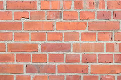 Newer red brick wall Stock Images