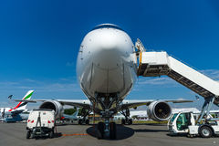 The newest Airbus A350-900 XWB at the airfield. Royalty Free Stock Image